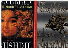 The Moors Last Sigh +The Satanic Verses~Salman Rushdie 1995/1989[1st Eds~HCDJ-VG
