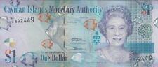 Cayman Islands Banknote P38b  1Dollar 2010, Prefix D/2, QE II, UNC