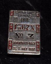 "Churchill Downs Race Money Clip 100 ""FnV7X"" No7 Seventh (7) Race July 7 1957"