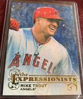 """Mike Trout 2017 Topps Gallery """"The Expressionists"""" # E-9, Los Angeles Angels"""