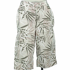 Silhouettes Woman Khaki Palm Leaves Print Pedal Pushers Size 24  $49