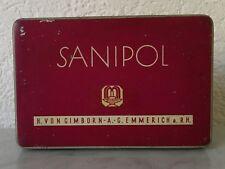 alte Dose Blechdose Sanipol H. von Gimborn A.-G. Emmerich a. Rh. Agar Konfekt