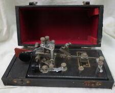 1940 RARE BUZZA automatic Telegraph key No. 100 / Sydny Australia original box