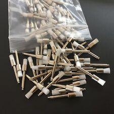 100pcs Dental Prophy Brush Flat End White Nylon Tapper Polishing Brush Flat