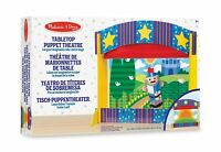 Melissa & Doug Tabletop Hand Puppet Theatre Wooden Toy Playset
