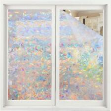 Rabbitgoo 3D window film Decorative Rainbow effect under sunshine 17.5x78.7In.