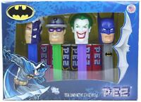 BATMAN PEZ SET OF 4 IN COLLECTORS BOX - 2008 - w/LOGO, JOKER, RIDDLER & TWO-FACE