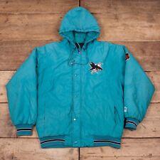 """Mens Vintage Starter NHL 1990s Blue San Jose Sharks Jacket Coat Medium 40"""" R8411"""