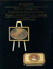 SOTHEBY'S GENEVA SNUFF GOLD BOX FABERGE RUSSIAN WOA PORTRAIT MINIATURES Cat 1990