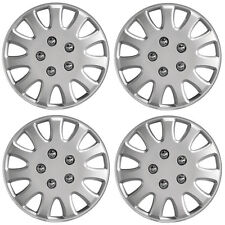 "Ikon 13"" Car Wheel Trims Hub Caps Plastic Covers Set of 4 Silver Universal"