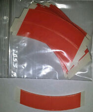 """Red Liner 3/4"""" x 3"""" Curved """"C"""" strips """"108 total"""" lace hairpiece wig toupee tape"""