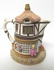 "Hometown Teapot Cottage Merry Go Round Toys 4"" Ceramic Resin Figurine"