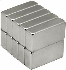 10 Neodymium Magnets 1/2 x 1/4 x 1/8 inch Block N48 Rare Earth