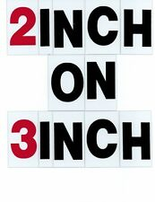 "2"" on 3"" Changeable Outdoor Portable Sign Letters 299ct"