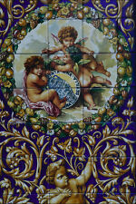 733054Cherubs With Ceramic Pottery Triana Seville Spain A4 Photo Print