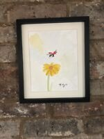 Ladybird On A Summers Day, Signed Original Watercolour Painting, Not Print, Gift