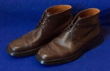 Dk Brown Leather TODS Lace-Up Ankle Boots Sz 7.5 Mens Italy TOD's
