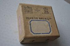"""Uno dei primi VINTAGE Hardy CARD REEL BOX PER 3 1/2"""" mulinello perfetto (solo Scatola)"""