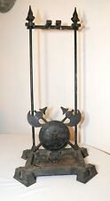 antique ornate cast iron Eastlake umbrella cane floor lion head stand holder