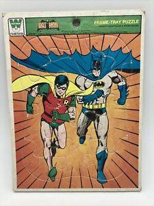 Vintage Batman and Robin Frame Tray Puzzle 1980 DC Comics Whitman