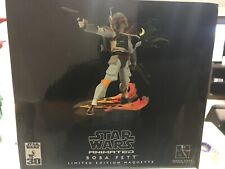 Star Wars Animated Boba Fett Maquette Gentle Giant Statue NEW