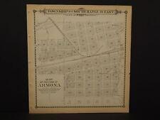 California Tulare County Map Armona Township 18-19 Dbl Sd 1892 !W12#55