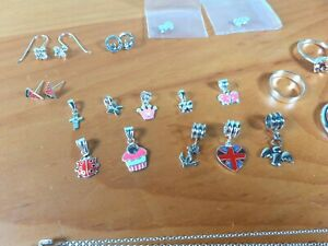 Sterling Silver 925 Jewellery Bundle Job Lot Rings Chain Necklaces 29g NOT SCRAP