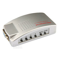 VGA to AV RCA TV Monitor S-Video Signal Converter Adapter Switch Box PC Laptop