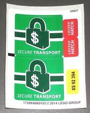 LEGO SECURE BANK TRANSPORT STICKERS City Decals Doc Ock Truck Heist 76015