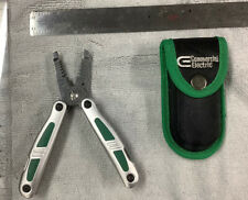 Commercial Electric 12-In-1 Electrician's Multi-Tool With Pouch Green Used