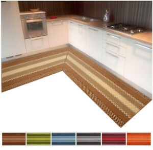 Carpet Kitchen Angular Or Runner Tailored per Meter Non-Slip Mod.gemma