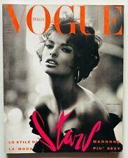 Vogue Italia 480 giugno 1990 Madonna David Bowie Linda Evangelista Donald Trump