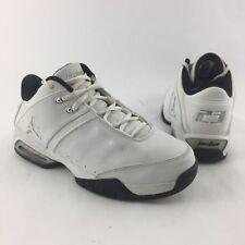 Nike Air Jordan Team Reign Low Womens 7.5 White Silver Athletic Shoes 312512-110