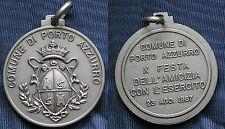 MEDAGLIA COMUNE DI PORTO AZZURRO - X FESTA AMICIZIA CON ESERCITO 1987 ISOLA ELBA