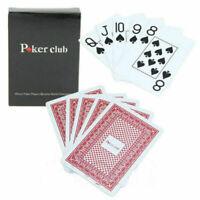 Jumbo Poker 100% PLASTIC Deck Playing Cards Poker Casino CL Sal G6U3