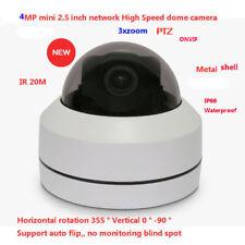 "4MP IR 20m waterproof network 2.5"" mini PTZ metal dome IP High Speed Dome 3Xzoom"