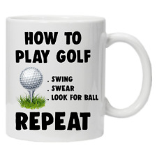 How To Play Golf Funny Novelty Golfers Gift Idea Coffee Tea Mug Secret Santa.