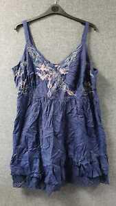 Joe Browns Embroidered Smock Sun Dress Navy UK 28 LN100 QQ 03