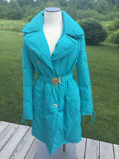 NWT $2750 Versace Collection Down Coat G31353 Turquoise size 46