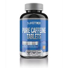 ENERGY PRE WORKOUT CAFFEINE TABLETS - ENERGY BOOSTING - FAT BURNER - X200 MATRIX