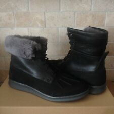 UGG Roskoe Black Waterproof Suede Sheepskin Boots Shoes Size US 9 Mens