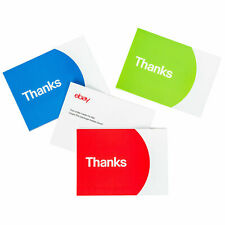 New Sellers Large eBay Thank You cards Multi Color 10 count