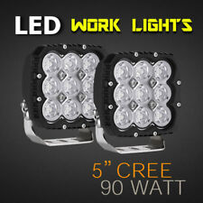 "LED Work Light - PAIR - 5"" 90W PRO Grade, Available in Spot or Flood, 12v/24v."