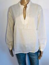 STEFANEL - Hochwertige Bluse in cream Punkte NEU 36 S 2935d