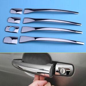 8pcs Chrome Door Handle Cover Trim fit forPeugeot 308 2008 207 407 Citroen C4 C6