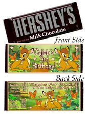 12 Bambi Birthday Party Baby Shower Hershey Candy Bar Wrappers Deer Fawn