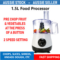 Food Processor - 1.5L Litres Kitchen Chopper Blender Mixer Multi Slicer Shredder