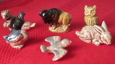Wade Six Red Rose Tea Porcelain Vintage Figurines