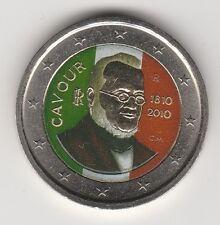 --- 2010AAAA 2 EURO C0ULEUR --- ITALIE / CAVOUR 1810-2010