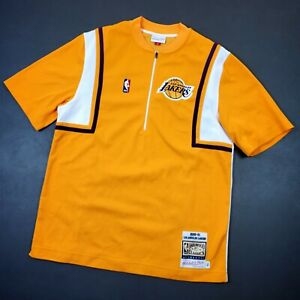 100% Authentic Mitchell Ness 00 01 Lakers Shooting Warm Up size L 44 kobe bryant
